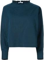 Atlantique Ascoli ruffle collar blouse - women - Cotton/Linen/Flax - 2