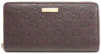 Gucci Brown Guccissima Leather Zip Around Wallet