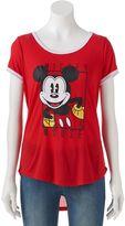 Disney Disney's Mickey Mouse Juniors' Ringer Graphic Tee