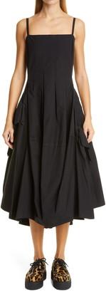 Molly Goddard Theodora Asymmetrical Sleeveless Midi Dress