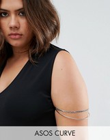 Asos Double Curb Chain & Fine Arm Cuff