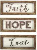 "New View Faith Hope Love"" Framed Wall Art 3-piece Set"