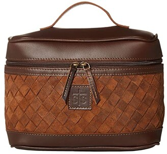 STS Ranchwear Basket Weave Train Case (Brown) Bags