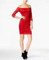 GUESS Celina Off-The-Shoulder Lace Dress