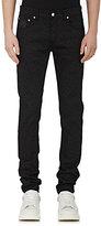 Alexander McQueen Men's Coated Leopard-Print Skinny Jeans