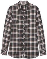 Banana Republic Dillon-Fit Ruffle-Cuff Flannel Shirt