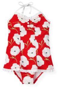 Janie and Jack Poppy Floral One-Piece Swimsuit