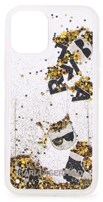 Karl Lagerfeld Paris Liquid Gold Glitter iPhone 12 Mini Case