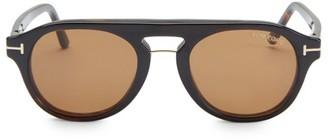 Tom Ford 49MM Soft Round Tortoise Shell Optical Eyeglasses