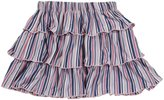 Kickee Pants Print Ruffle Skirt (Toddler)-Sailaway Stripe-Girl-4T