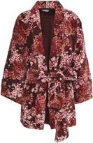 By Ti Mo Bytimo Floral-print Cotton-velvet Robe