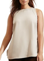 Lauren Ralph Lauren Plus Trapunto Stitch Sleeveless Top