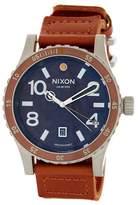 Nixon Men's Diplomat Leather Strap Watch