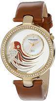 Akribos XXIV Women's AK602BR Lady Diamond Parrot Dial Swiss Quartz Leather Strap Watch
