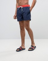 Tommy Hilfiger THD Contrast Swim Shorts In Navy