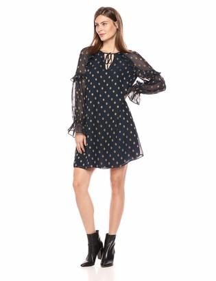 Lark & Ro Amazon Brand Women's Ruffle Sleeve Shift Dress