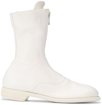 Guidi Front-Zip Leather Boots