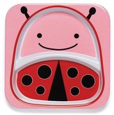 Skip Hop Zoo Tableware, Divided Plate, Livie Ladybug/Pink