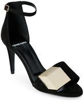 Pierre Hardy Black Cube-Decal Open Toe Sandals