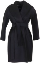 Max Mara Messi Black Wool Coat