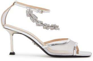 Cesare Paciotti Chiara 75 embellished mesh sandals