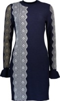 3.1 Phillip Lim Merino Intarsia Lace Dress