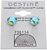 Crystallite Aqua Aura Diamond Earrings