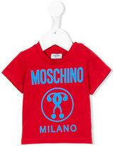 Moschino Kids - logo print T-shirt - kids - Cotton - 24-36 mth