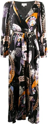 Temperley London Cosmos-print wrap dress