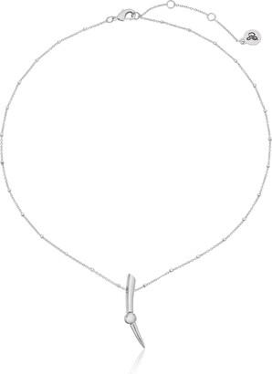 Sam Edelman Bead Spear Rhodium Pendant Necklace 16