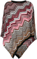 Missoni chevron pattern poncho