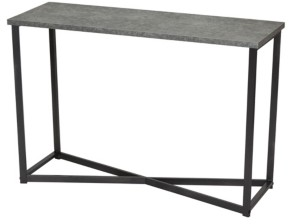 Household Essentials Slate Faux Concrete Sofa Table