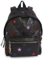 Saint Laurent Mini Glitter Star Leather Backpack