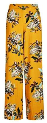 Dorothy Perkins Womens **Only Yellow Floral Print Joggers, Yellow