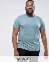 Asos PLUS T-Shirt In Green Marl