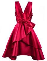 Alberta Ferretti Red Silk Blend Flared Dress