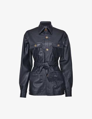 Pinko Piero leather-look utility jacket