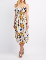 Charlotte Russe Floral Ruffle-Trim Maxi Dress