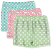 Millie Loves Lily Girls' Casual Dresses Mixed - Turquoise & Pink Polka Dot & Floral Shorts Set - Toddler & Girls