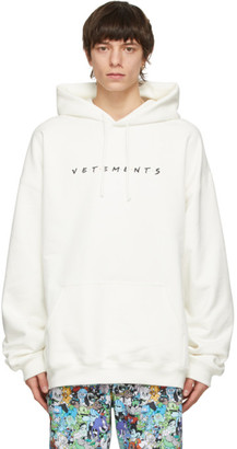 Vetements White Friendly Logo Hoodie