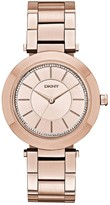 DKNY Stanhope ladies' rose gold-plated bracelet watch