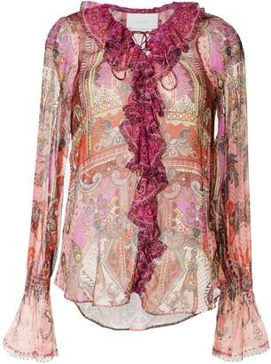 Camilla Lotus Lovers paisley draped blouse