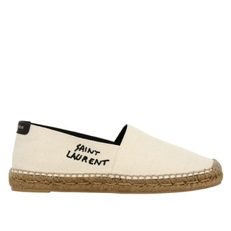 Saint Laurent Espadrilles In Canvas With Embroidered Logo