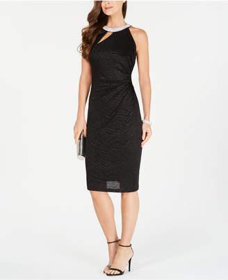 MSK Halter Cutout Sheath Dress