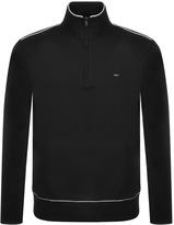 Michael Kors Piping Half Zip Sweatshirt Black