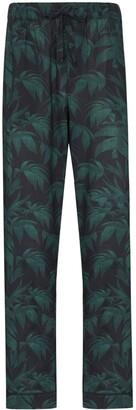 Desmond & Dempsey Palm-Tree Print Pyjama Trousers