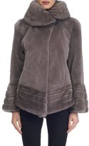 Gorski Sheared Mink Fur Reversible Jacket