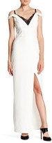 ABS by Allen Schwartz Off-the-Shoulder Slit Gown