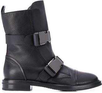 Casadei Buckle Strap Boots