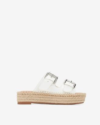 Express Double Strap Espadrille Slide Sandals